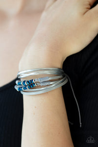 Prismatically Dramatic Blue Bracelet