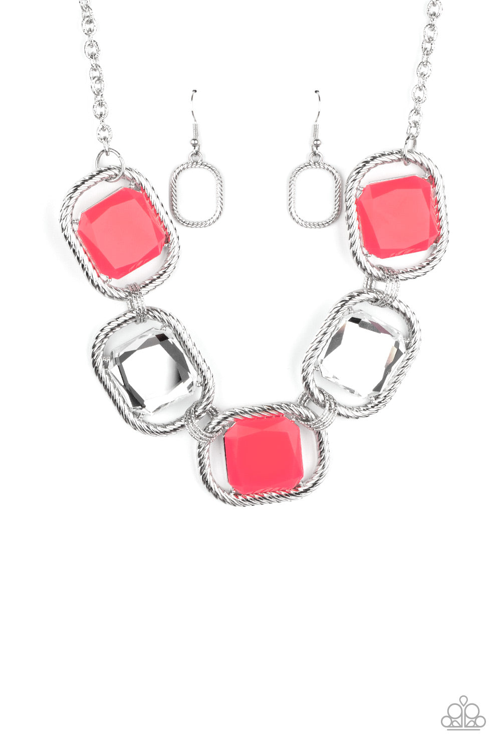 Pucker Up Pink Necklace