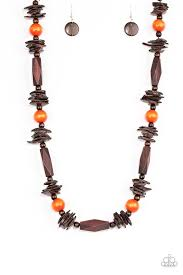 Cozumel Coast Orange Necklace