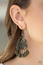 Load image into Gallery viewer, Teardrop Tempo Brass Earring