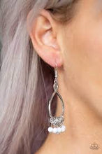 Load image into Gallery viewer, Broadway Babe White Earring