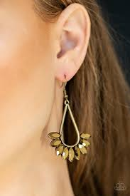 Be On Guard Brass Earring