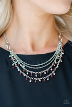 Load image into Gallery viewer, Financially Fabulous Red Necklace