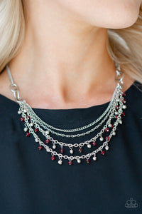 Financially Fabulous Red Necklace