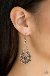 Cancun Can-Can Brass Earring