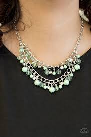Bridal Party Green Necklace