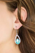 Load image into Gallery viewer, Gatsby Grandeur Blue Earring