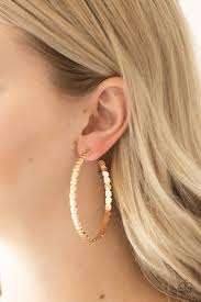 Totally Off The Hoop Gold Earring