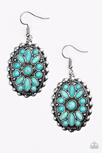 Prairie Poppy Blue Earring