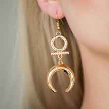 Load image into Gallery viewer, Majestically Moonchild Gold Earrings