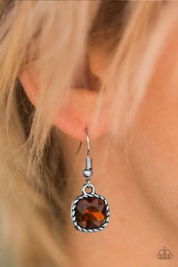 Gem Hunt Brown Earring