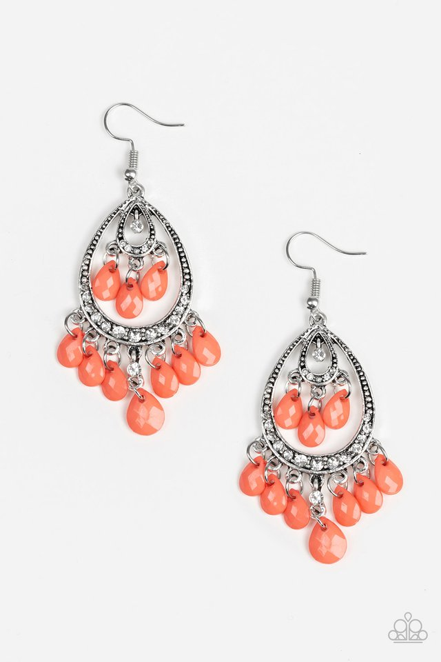 Gorgeously Genie Orange Earring