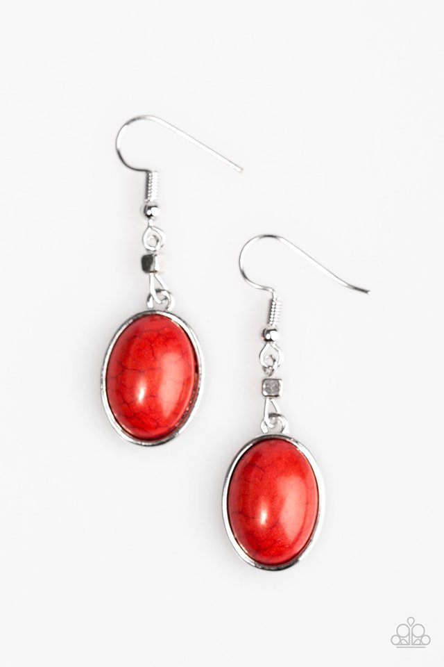Back To The SANDSTONE Age Red Earring
