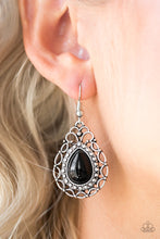 Load image into Gallery viewer, Flirty Finesse Black Earring