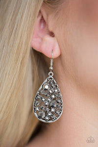 GLOW With The Flow Silver Earring