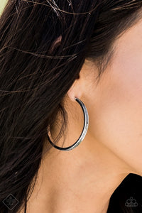Retro Ranch Style Silver Hoop Earring
