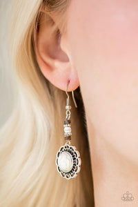 Desert Bliss White Earring