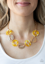Load image into Gallery viewer, Retro Retrograde Yellow Necklace