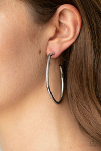 Rough It Up Black Earring