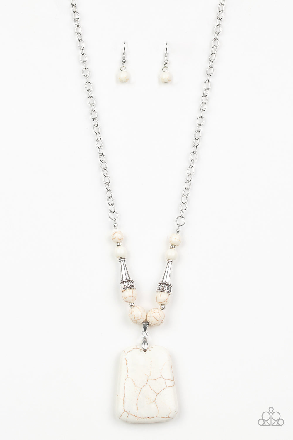 Sandstone Oasis White Necklace