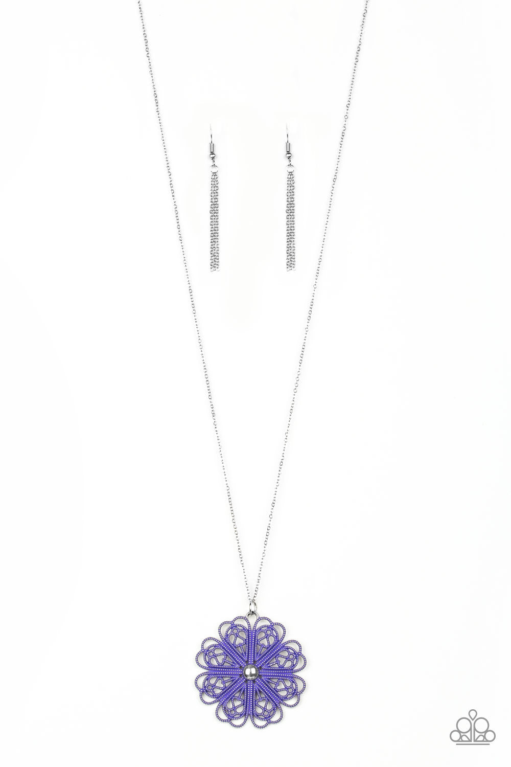 Spin Your PINWHEELS Purple Necklace