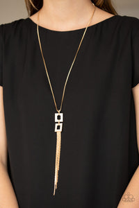 Times Square Stunner Gold Necklace