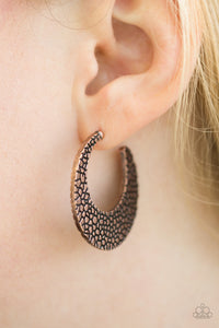 Country Cobblestone Hoop Copper Earring