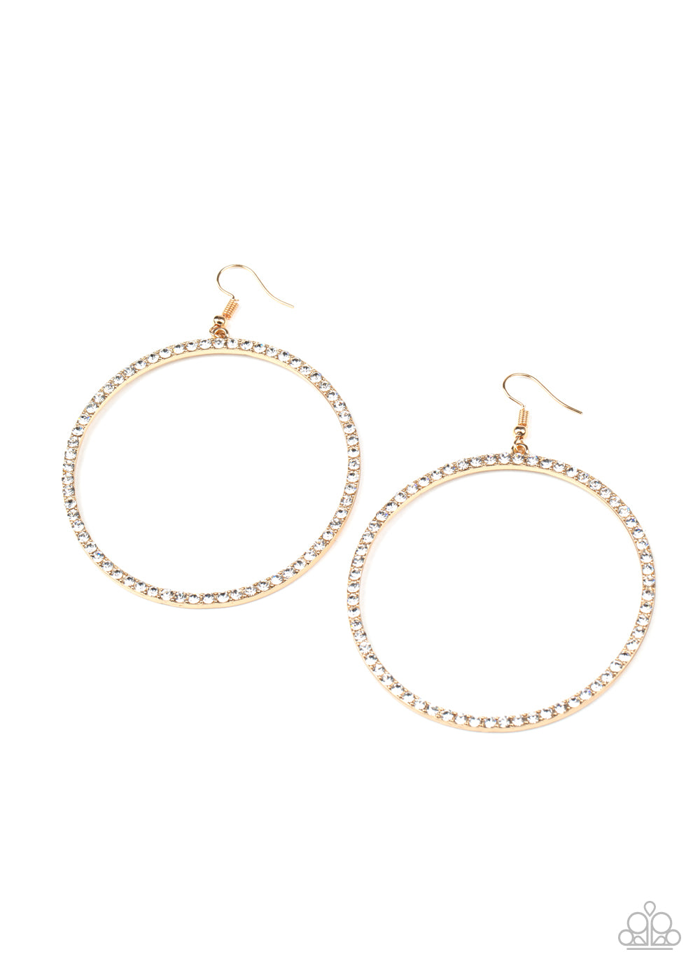 Wide Curves Ahead Gold Earring
