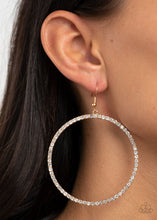 Load image into Gallery viewer, Wide Curves Ahead Gold Earring