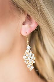 Cosmically Chic Gold Earring