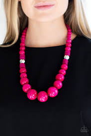 Panama Panorama Pink Necklace