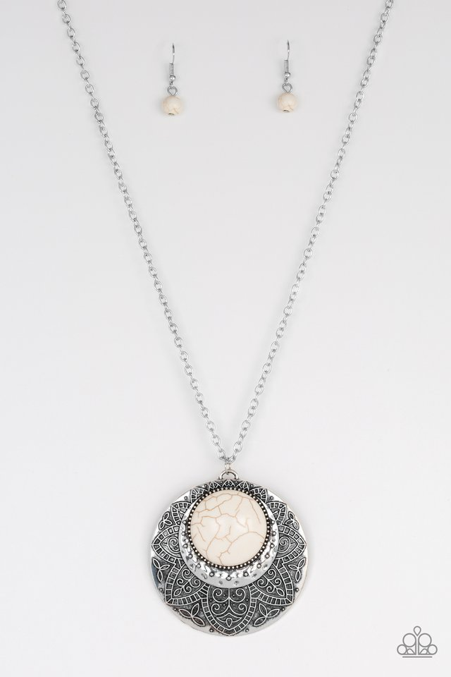 Medallion Meadow White Necklace