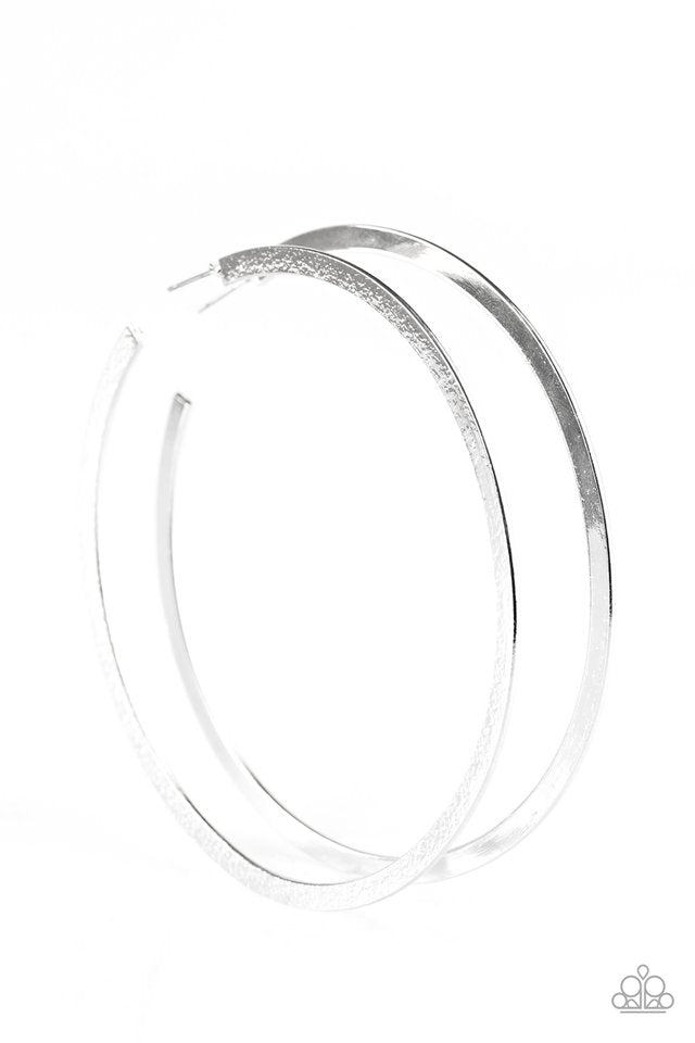 Size Them Up Hoop Silver Earring