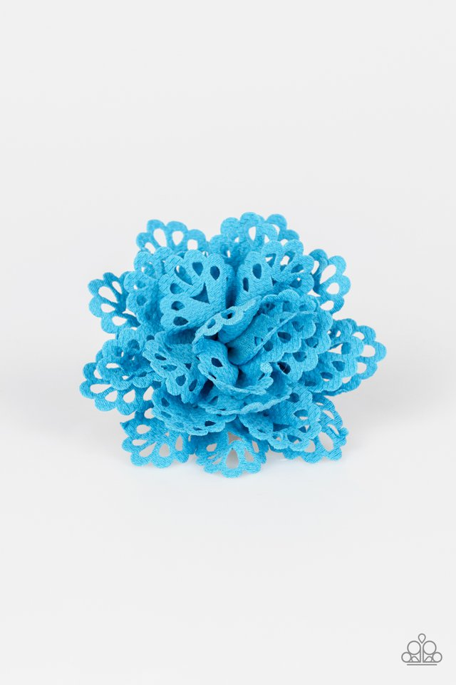 Springing Into Spring Blue Hair Clip
