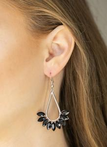 Be On Guard Black Earring