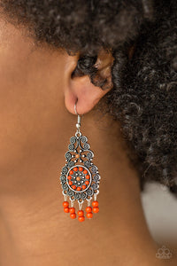 Courageously Congo Orange Earring