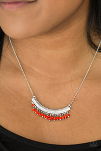 Fringe Fever Red Necklace