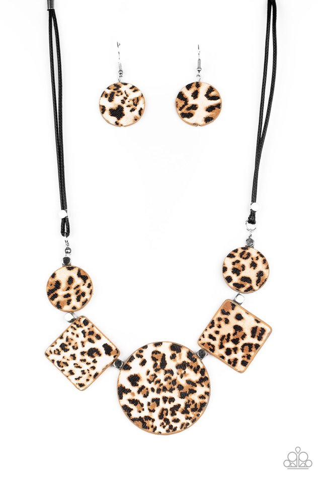 Here Kitty Kitty Brown Necklace