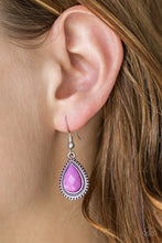 Load image into Gallery viewer, Summer Vacay Purple Earring