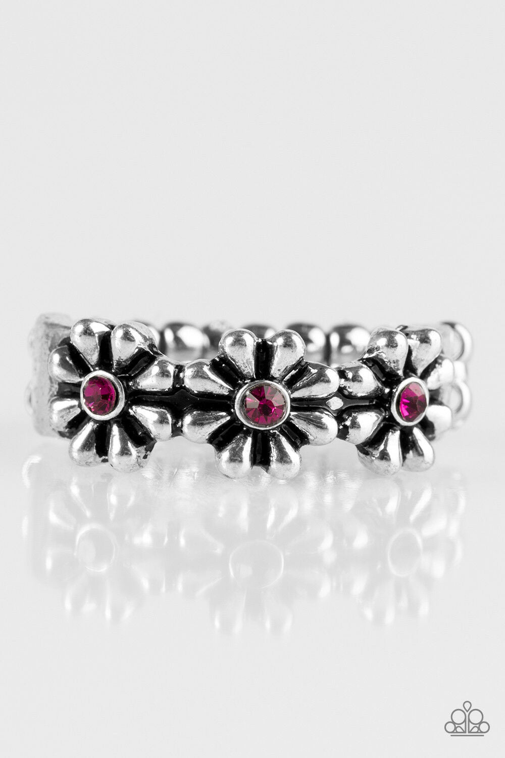 Dancing Daisies Pink Ring