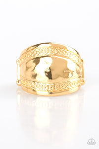 Sunset Groove Gold Ring