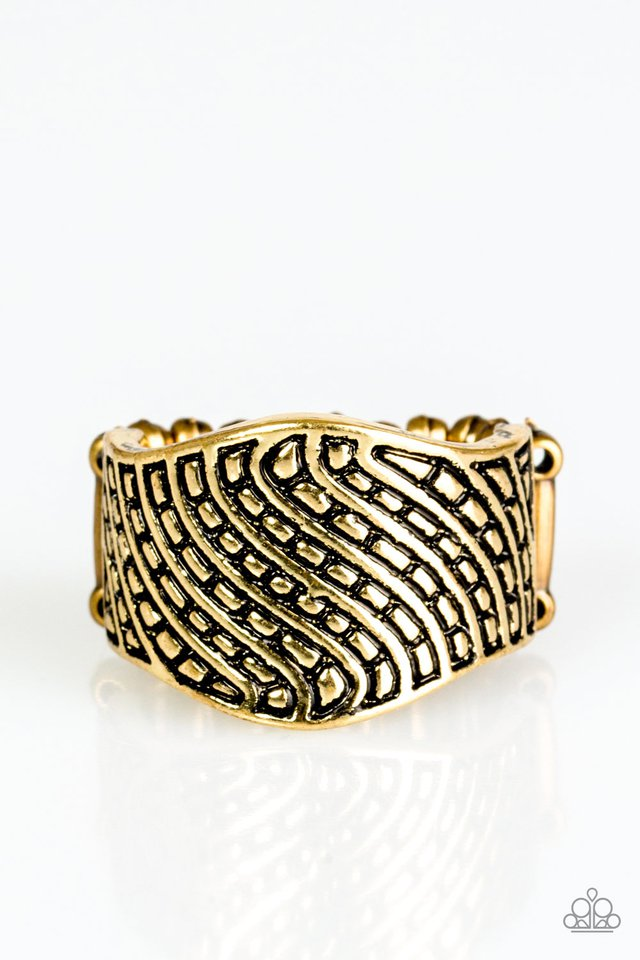 Desert Waves Brass Ring