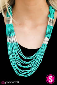 Let It BEAD Blue Necklace