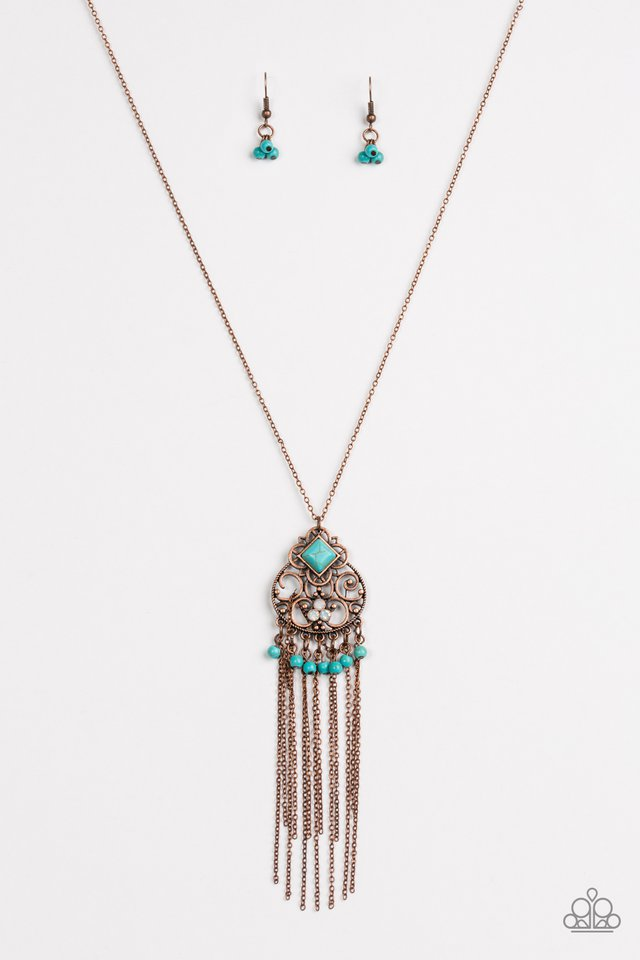 Whimsically Western Copper Necklace