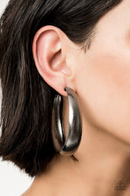 Load image into Gallery viewer, HOOPS! I Did It Again Black Earring