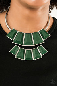 Lions, TIGRESS, and Bears Green Necklace