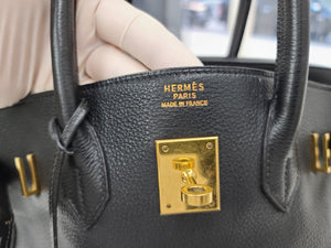 Hermes Birkin 35 Black & Gold hardware