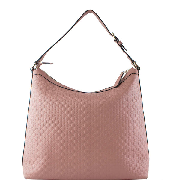 bc265a2905a61c Gucci Soft Pink Micro GG Guccissima Leather Purse Hobo Handbag ...