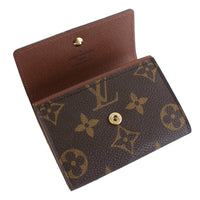 Louis Vuitton Porte Coin Purse Monnaie Plat Browns Monogram