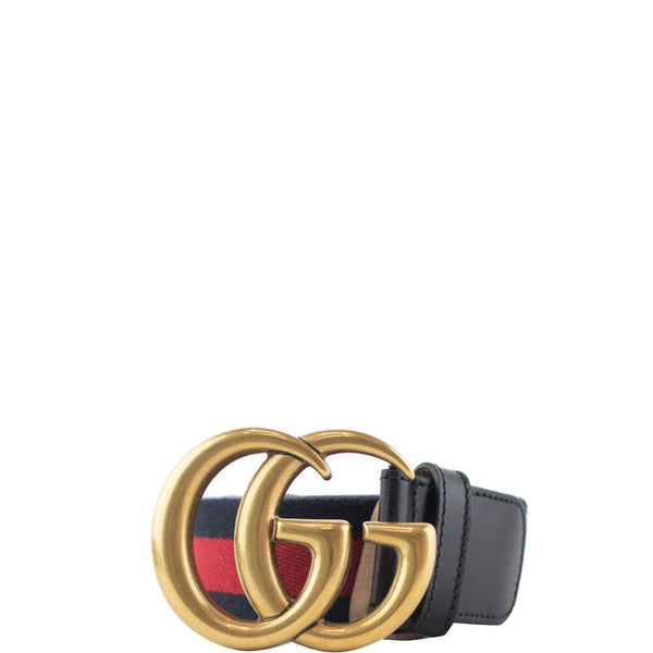 Gucci Black Web GG Belt